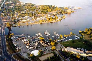 Belleville Harbour from the RE/MAX Balloon 1
