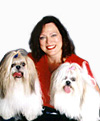 Debra and her dogs Tara and Toto- Click to go to 'About Debra' page.